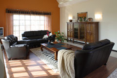 Classic living room. Interior of a classic living room with classic furniture Stock Photography