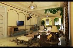 Classic living room stock illustration