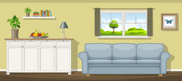 Classic living room. Illustration of a classic living room Royalty Free Stock Image