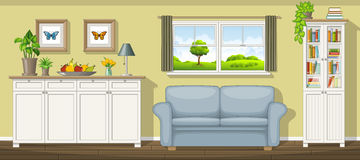 Classic living room. Illustration of a classic living room Stock Photos