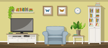Classic living room. Illustration of a classic living room vector illustration