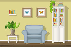 Classic living room. Illustration of a classic living room Royalty Free Stock Photography