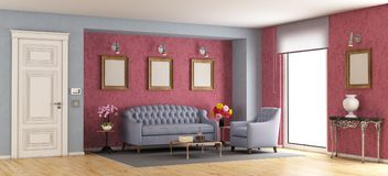 Classic living room Royalty Free Stock Images