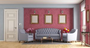 Classic living room Royalty Free Stock Photos