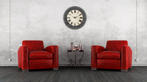 Classic living room with two armchair Stock Images