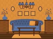 Classic livingroom interior Stock Photography