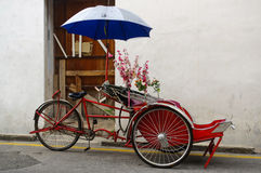 Classic local rickshaw in George Town, Penang in Malaysia Stock Image