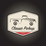 Classic logo of vintage pickup vehicle icon design. Vector illustration Stock Photos
