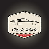 Classic logo of vintage sports vehicle icon design. Vector illustration Stock Image