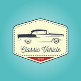 Classic logo of vintage vehicle with icon design. Vector illustration Stock Photography