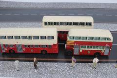 Classic London Bus model isolated Stock Photography