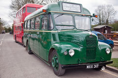 Classic London Buses Stock Photo