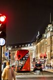 Classic London red bus in the Christmas time, London Royalty Free Stock Photography