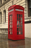 Classic London telephone booth stock photography