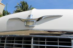 Classic luxury American car detail stock images