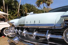 Classic luxury American Imperial car detail stock image