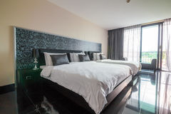 Classic luxury bedroom with decoration Royalty Free Stock Photo