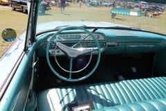 Classic luxury convertible american car interior stock images