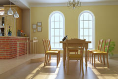 Classic luxury dining room Royalty Free Stock Photos