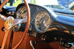 Classic luxury Ferrari steering wheel Royalty Free Stock Photo