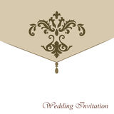 Classic luxury invitation card Royalty Free Stock Photos