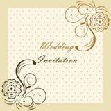 Classic luxury invitation card Stock Images