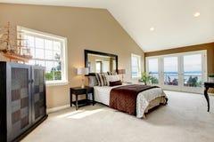 Classic luxury large bedroom. Stock Image