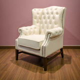 Classic luxury White armchair Stock Images