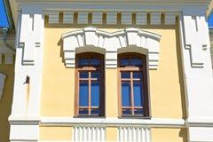 Classic luxury windows couple Royalty Free Stock Image