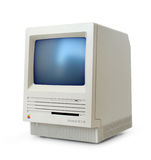 Classic Mac SE. Original classic Apple Macintosh SE computer from the eighties isolated on white royalty free stock photos