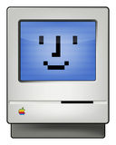 Classic Macintosh. Classic Apple Macintosh computer from the eighties. Vector illustration isolated on white Stock Images