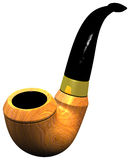 A classic mahogany wood pipe with blacklassic Pipe Royalty Free Stock Photography