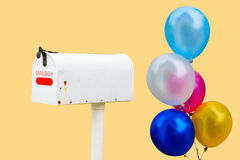 Classic Mailbox with Balloon Stock Photos