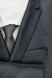 Classic male suit, shirt and tie, closeup. Stock Photography