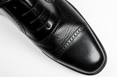 Classic man's black shoe Stock Photo