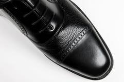 Classic man's black shoe Stock Photo