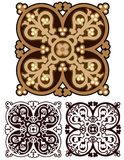 Classic mandala design in earth tones, with variations Stock Image