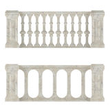 Classic marble balustrade isolated Stock Photography