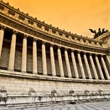 Classic marble colonnade, Vittoriano Rome. Background Royalty Free Stock Images