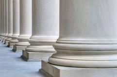 Classic marble columns stock photos