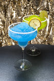 Classic margarita and a blue margarita Cocktail Royalty Free Stock Photo