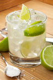 Classic margarita cocktail with salty rim Stock Image