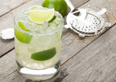 Classic margarita cocktail with salty rim Stock Photography