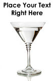 Classic martini glass filled with clear drink Royalty Free Stock Photos