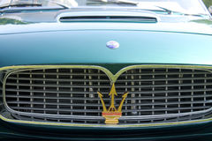 Classic Maserati sports cars grille detail Royalty Free Stock Image