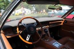 Classic Maserati sports grand tourer interior Stock Photo