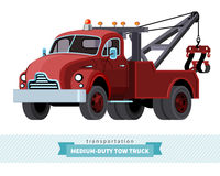 Classic medium duty tow truck front side view Royalty Free Stock Photos