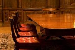 Classic Meeting Room. In dark lighting Royalty Free Stock Photos