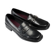 Classic men's black shoes Stock Photo