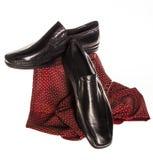 Classic men's elegant black shoes Stock Photo